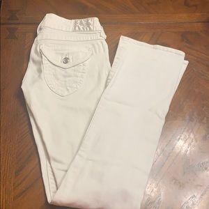 White true religion boot cut jeans